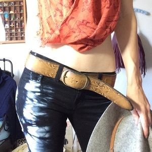 Vintage Accessories - ☀️ Sun Leather Belt Centaurus San Francisco